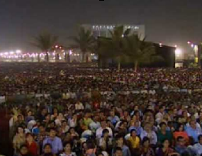 Image result for thousands of people at benny hinn crusade